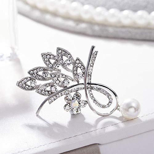 Broche De Diamantes De Imitación, Versión Coreana De La Pequeña Y Exquisita Bufanda De Seda, Collar De Vestir, Pin Adecuado Para Niñas, Colgantes De Perlas