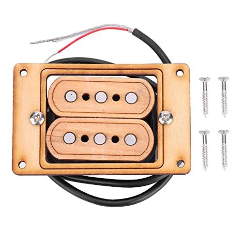 Pastilla de guitarra Humbucker, pastilla de guitarra de diseño precableado sin ruido para guitarra de repuesto para fanático de la música(Maple light yellow, blue)