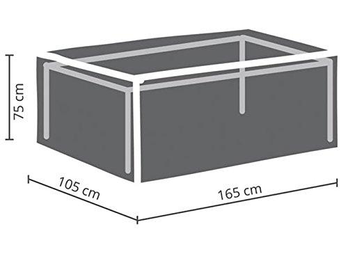 Perel Garden OCT160 Housse de Protection pour Table de Jardin – Maximum 160 cm, Anthracite, 165 x 105 x 75 cm