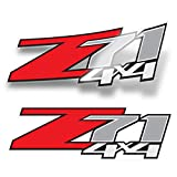 GOLD HOOK Chevy Silverado Z71 4x4 Decals Stickers (Dimensions 12.5' x 4') - F (2007-2013) Bed Side 1500 2500 HD (Set of 2)