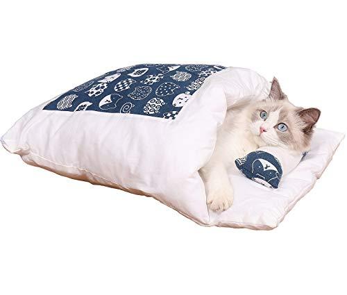 V-Dank 猫 ベッド 犬 ベッド ペット ベッド 猫 ふとん ペット マット クッション 寝袋 65x50cm 短毛絨布 キャットハウス 可愛い 大きい かわいい ペットハウス 猫グッズ ペット布団 あったか ペット用品 イヌ 筒型 布団 ネコ ねこ ソフト ふわふわ (短毛絨布)