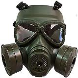 GHDE& 360 ° Masque Protecteur Respirateur à Joint Complet Protection des Yeux Facile à Utiliser dans Le gaz Organique, Le pulvérisateur de Peinture, Le Produit Chimique,Vert
