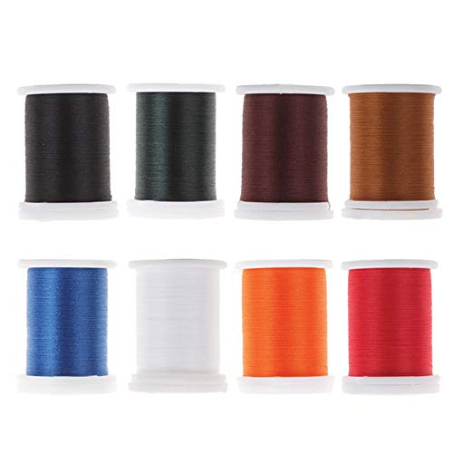 Riverruns Super Realistic Standard Thread 3/0,6/0,8/0,Twisted Thread, Body Thread Fly Tying Material Proudly from Europe Tie Flies Body (8 Color/Set Standard Thread 3/0)