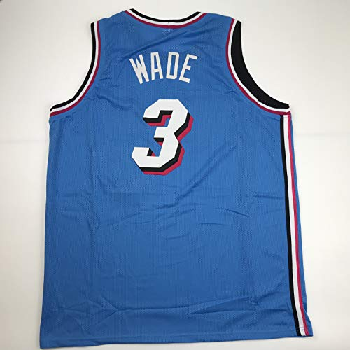 Unsigned Dwyane Wade Miami Blue City Vice Custom Stitched Basketball Jersey Size Men's XL New No Brands/Logos