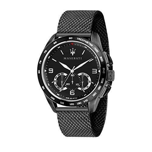 Orologio da uomo, Collezione Traguardo, con movimento al quarzo e funzione cronografo, in acciaio e PVD nero - R8873612031