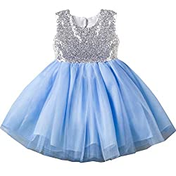 Blue07 Tulle Tutu Baby Dress With Sequins