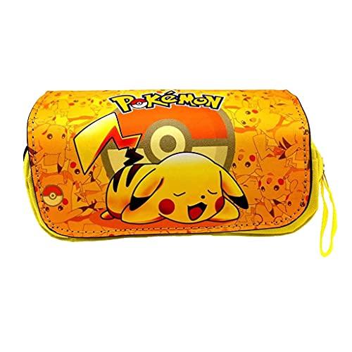 Pokemon Plumieres/Estuches Anime Infantil Jóvenes Pikachu Caja de Lápices Niña Pikachu Teenager Schulmaeppchen Bleistiftkoffer Manga Bleistiftbeute Pokemon Estuche - 6, OS