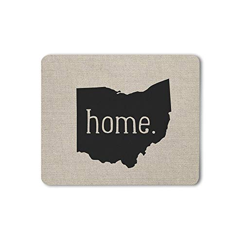 Moslion Home Mouse Pad Ohio State Lettering Symbol Gray Black Gaming Mouse Mat Non-Slip Rubber Base Thick Mousepad for Laptop Computer PC 9.5x7.9 Inch