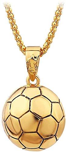 Collar de Hip Hop para hombre, collar deportivo para hombre, collar con colgante de fútbol, cadena de aleación, collar de pelota de fútbol, regalo de joyería