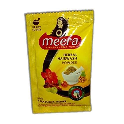 4 X Meera Herbal Hair Wash Shikakai Excellent 8 High quality new Tulsi Powder Shampoo