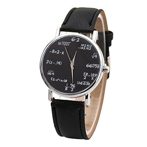 MingXiao Luxus männer kairos Armbanduhr Mathematik Formel analog Quarz pu Leder Armbanduhr für Dame Geschenk 9 Farbe