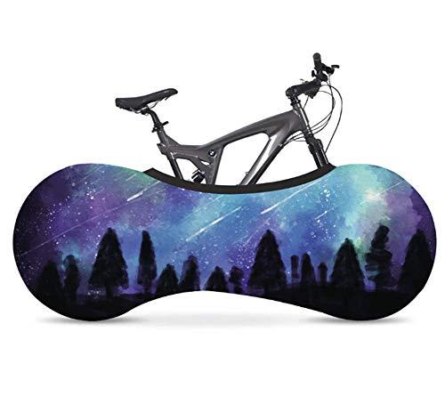Phil Beauty 26-28' Funda Bicicleta Decorativas Cubierta De Polvo Elástica Serie Cielo Estrellado Jardín Balcón Garaje Exterior Lavable Elegante Y Duradero,Blue 1
