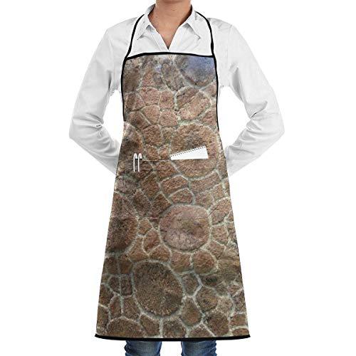 Not Applicable Schildkrötenpanzer Fliesenmuster Unisex Chef Koch Küche Schürze Langlebige Mode Schürzen Lätzchen mit Tasche für Restaurant Cafe Home Grill Grill Backen Garten Handwerk Basteln Gemälde
