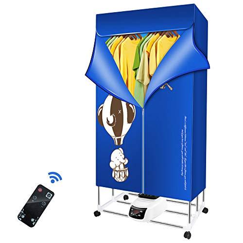 InLoveArts Secadora de ropa eléctrica 1500W-33LB Secadora de ropa de iones negativos Secador de ropa portátil Secador de aire para armario plegable con control remoto/temporizador automático