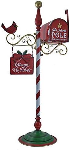 新品未使用 ついに再販開始 Zaer Ltd. Merry Christmas Candy Cane Welcome De Sign Mailbox and