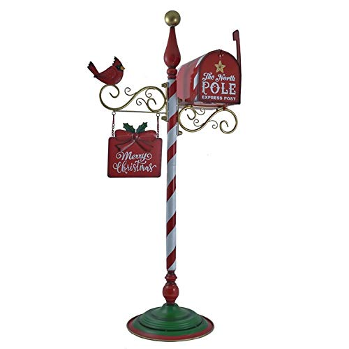 Zaer Ltd. Merry Christmas Candy Cane Mailbox and Welcome Sign Decoration