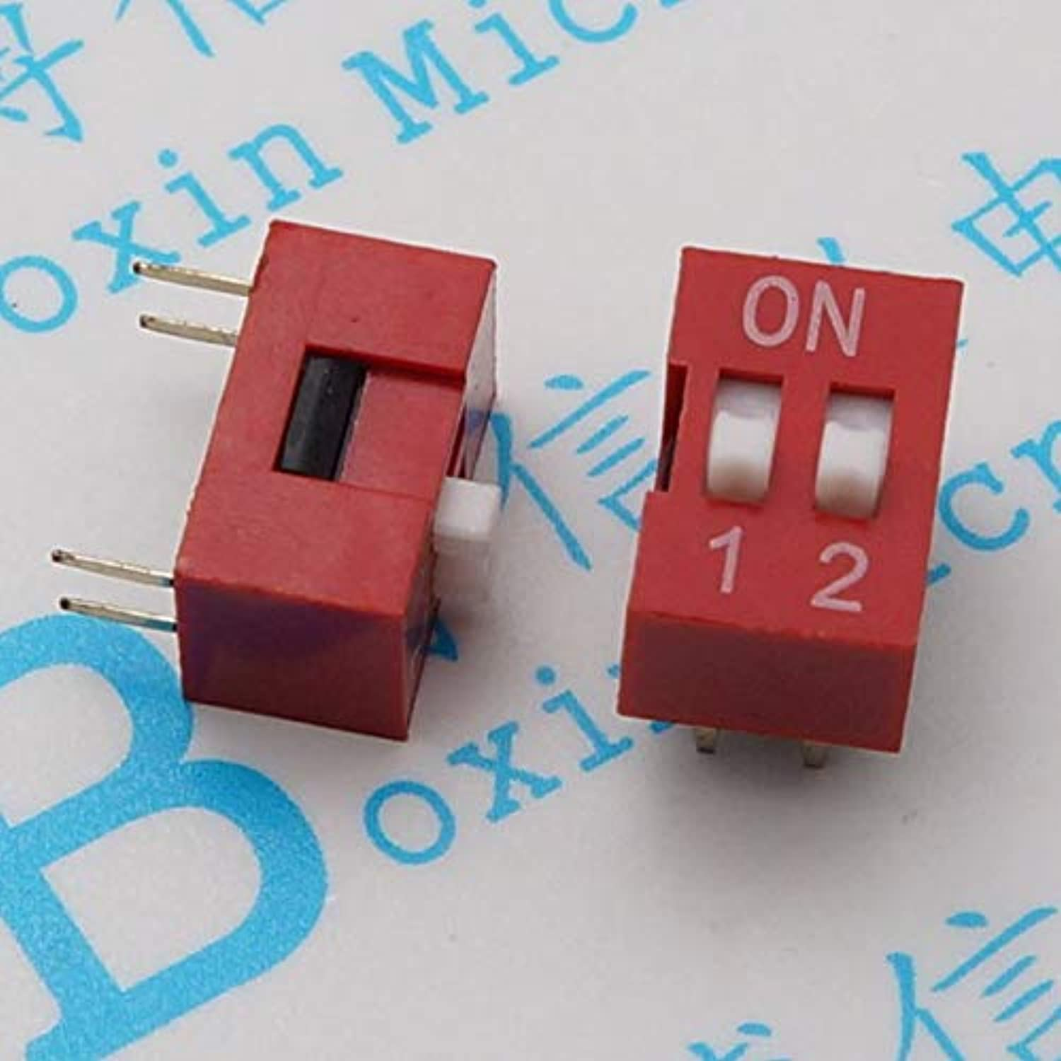 Two dial into Flat pin Pitch 2.54 mm dial Code Coding Switch  (color  100pcas a Pack)