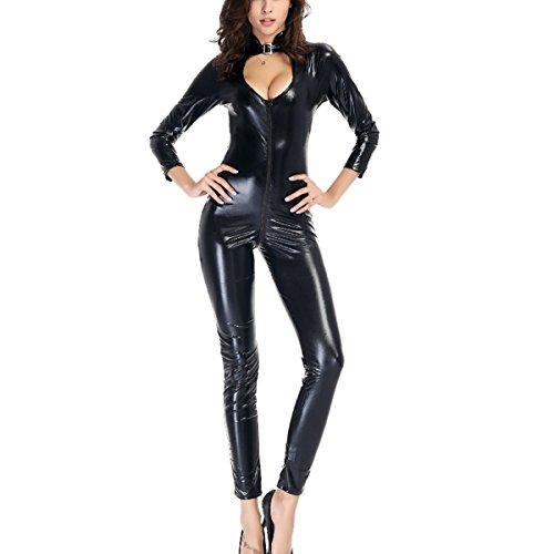 Damen Overalls Unterwäsche, Frau Clubwear Stripperin Leder Reizvolle Versuchung Erotische Dessous Strumpfhose Bodysuit Jumpsuits Kleid Nachthemd Tops Sets