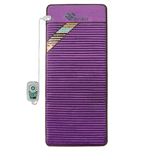 PHYMAT Far Infrared Amethyst Heating Pad (67'x27')- 5 Color Natural Crystal Infrared Heat Mat - Amethyst Infrared Heating Mat with Auto Shut Off - Overheat Protection,Smart Control