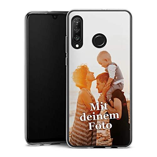 DeinDesign Silikon Hülle kompatibel mit Huawei P30 Lite Handyhülle Case Selbst Gestalten Personalisieren Zum Anpassen