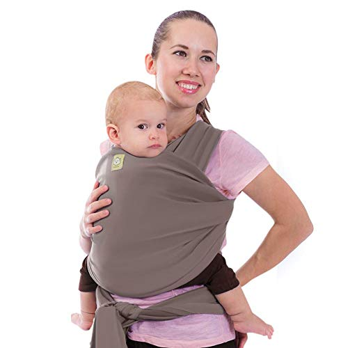 Baby Wrap Carrier - All in 1 Stretchy Baby Sling - Ergo Carrier Sling - Baby Carrier Wraps - Baby Carriers for Newborn, Infant - Baby Holder Straps - Baby Slings - Baby Sling Wrap (Copper Gray)