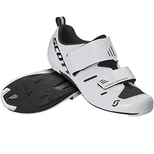 Scott Road Tri Pro Triathlon 2020 - Zapatillas de ciclismo, color blanco y negro, Hombre, blanco brillante, 46