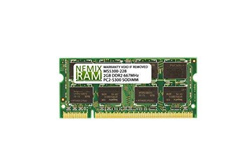 2GB DDR2 667MHz PC2-5300 200-pin SODIMM Memory RAM for Laptop MAC/PC