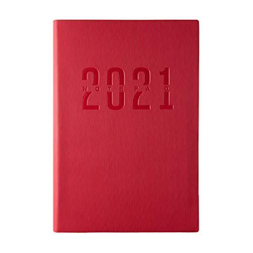 ABOOFAN 2021 Planificador Calendario Cuaderno Semanal Planificador Mensual Bloc de Notas PU Cubierta Cuaderno de Escritura con Pestañas Calendario Diario Objetivos Libro Agenda Cuaderno