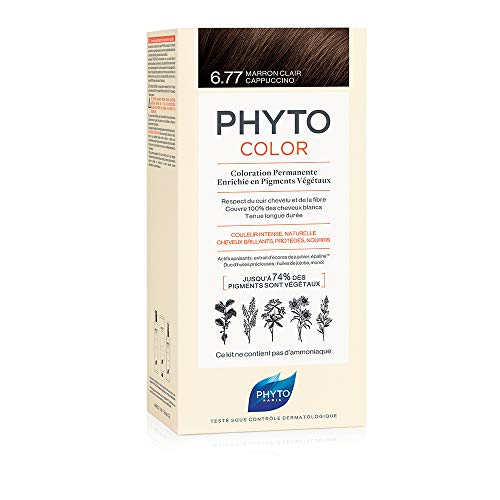 Phyto Protocolor Box Haarfärbemittel, 6.77 Hellbraun-Cappuccino 182 ml