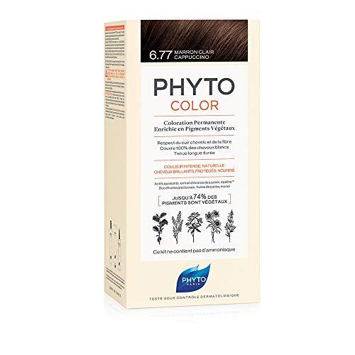 Phyto Color Colorazione Permanente Capelli 6.77 Marrone Chiaro Cappuccino