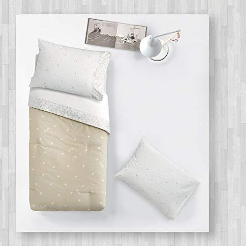 Étoiles complète pour lit de bébé 120 x 180 cm en pur coton beige Nebia Trudi
