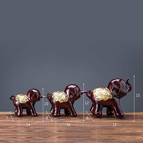 Three Wise Cute Baby Elephants  Figurines Nemesis Decor Animal Statue Gift Xmas