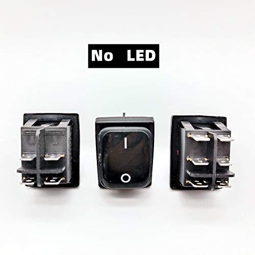 DLRSET Boton Interruptor Rocker, 1 unids KCD4 Interruptor de rockero de Trabajo Pesado 16A / 250V AC 2 Posición ON/Off 4PIN / 6PIN DPST IP67 Sellado de Agua a Prueba de Agua T85 con LED 12V 220V