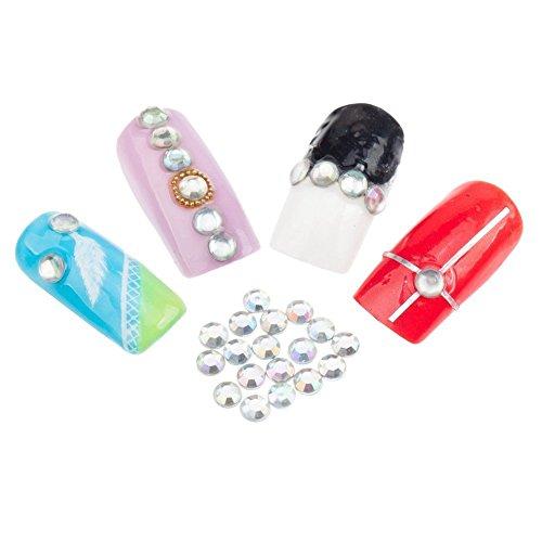 Paquete de 1000 4 mm palma de diamantes de imitación de piedras preciosas de joyas de cristales en vivos coloures del arco iris de VAGA