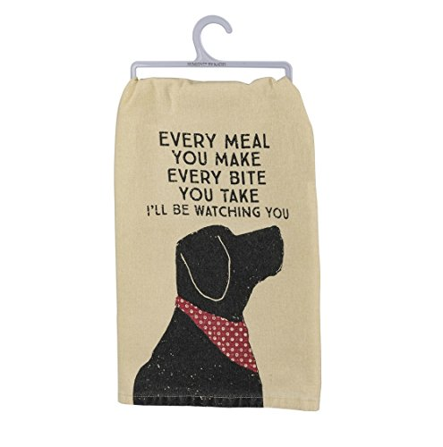 Primitives by Kathy - 'I'll Be Watching You' Pet Love Cotton Dish Towel