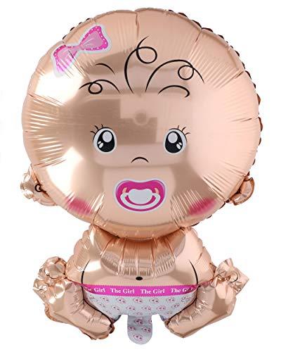 A.I. & E. Folienballon Baby XL Mädchen Girl Größe ca. 58 x 37 cm (Mädchen)