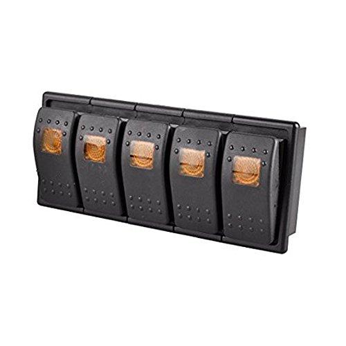 5 Interruptores basculantes impermeables 12V 20A Luz LED 4 Pines encendido/apagado