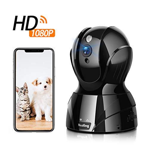 Nestling 1080P Hochauflösende Überwachung, WiFi-Innenkamera, Zwei-Wege-Audio-Heimsicherheitsmonitor Mit Klarer Nachtsicht, Unterstützung für Alarm Bei Abnormaler Überwachung und APP-Fernbedienung