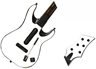 Matte Black Vinyl Decal Faceplate Mod Skin Kit for Xbox 360 or PS3 Guitar Hero 5 (GH5) World Tour by System Skins