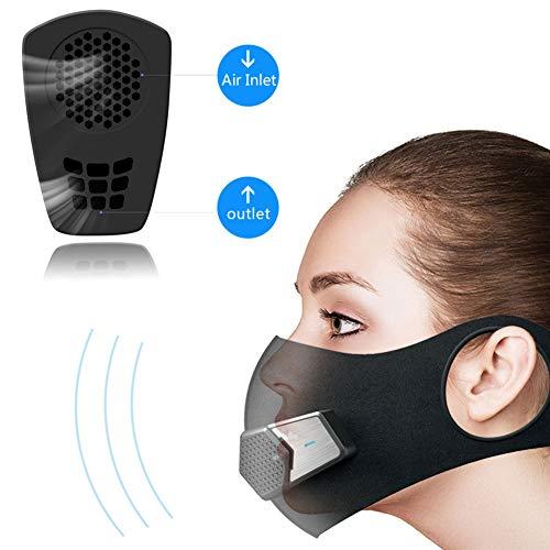 Smart eléctrico Cara escudo protector, Negro contra contaminación po