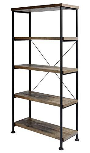 Amazon Marke -Movian Côa - Bücherregal mit 4 Regalböden, 80x36x160cm, Dunkle Eiche mit Vintage-Effekt