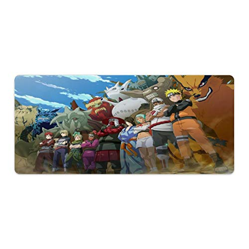 Funny Naruto Family Anime Mouse Pad No-Slip Durable Gaming Mouse Mat Base for Office Computer Laptop