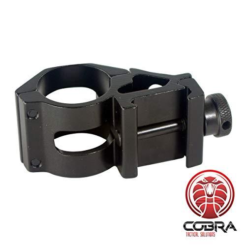 COBRA Tactical Solutions 1-Zoll 45 Grad Offset-Ring für Laser- oder Taschenlampen | Seitliche Montage | Picatinny Rail | für Softair, Luftwaffen, Anthrazit