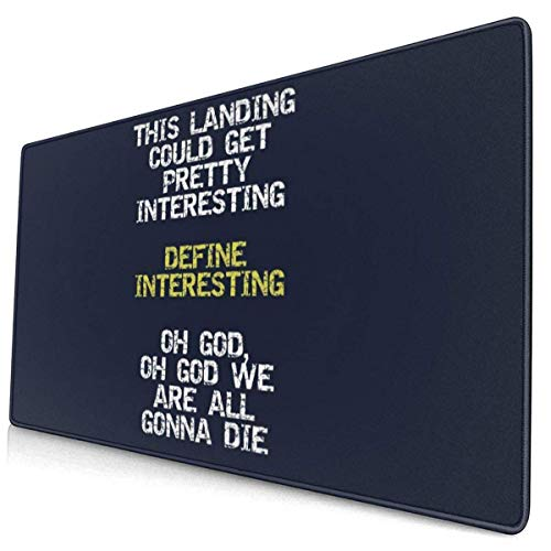Extra Large Mouse Pad -Define Interesting Text Firefly Serenity Desk Mousepad - 15.8x29.5in (3mm Thick)- XL Protective Keyboard Desk Mouse Mat for Computer/Laptop