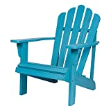 Shine Company 4621AQ Westport II Hydro-TEX Finish, Aqua Adirondack Chair