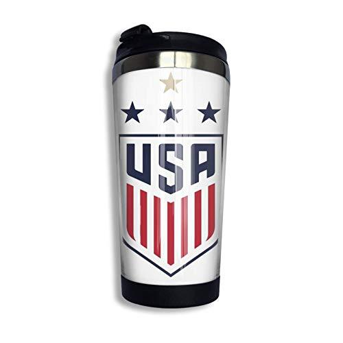 Hdadwy Uswnt Us Equipo Nacional de Fútbol Femenino Taza de viaje personalizada Vaso de café de acero inoxidable Taza de viaje con aislamiento al vacío de doble pared para Navidad Cumpleaños Oficina en