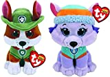 Ty Licensed Beanies - Paw Patrol Tracker & Everest 2 pc Set - 8'