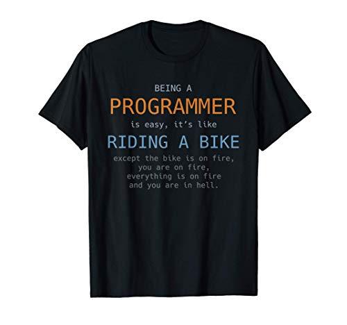 Programmierer Fahrrad Code Lustig Codierung Geschenk Schwarz T-Shirt
