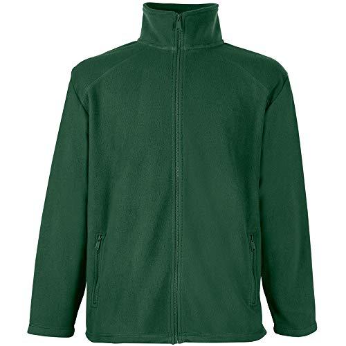 Fruit of the Loom Full Zip Fleece Sweat-Shirt, Vert (Bottle Green), X-Large Homme