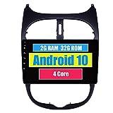 RoverOne Radio del Coche para Peugeot 206 206CC 206SW con Android Navegación GPS Pantalla Táctil Estéreo Bluetooth WiFi USB Mirror Link